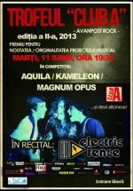Concerte Aquila, Kameleon şi Magnum Opus în Club A din Bucureşti
