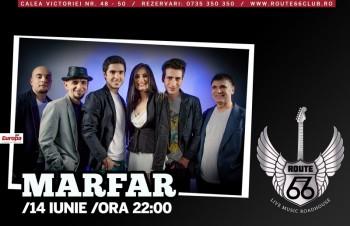 Concert Marfar în Route 66 Club din Bucureşti