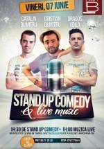 Stand Up Comedy & Live Music în Plan B Club din Bistriţa