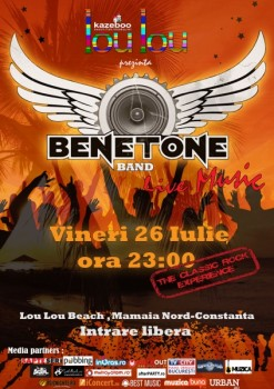 Concert Benetone la Lou Lou Beach din Mamaia