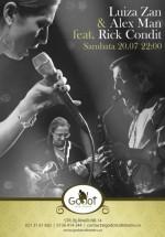 Concert Luiza Zan & Alex Man feat. Rick Condit în Godot Cafe-Teatru din Bucureşti