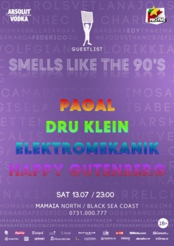 Smells Like The 90's în Club Guestlist din Mamaia