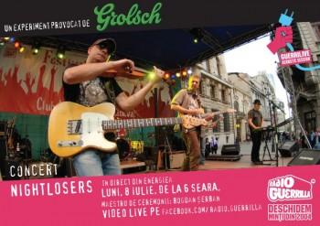 Concert Nightlosers la GuerriLIVE Acoustic Session în Energiea din Bucureşti