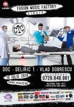 Concert DOC, Deliric şi Vlad Dobrescu în Club Fusion Music Factory din Sinaia