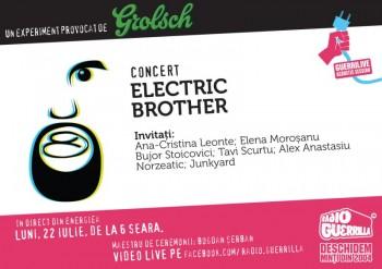 Concert Electric Brother la GuerriLIVE Acoustic Session în Energiea din Bucureşti