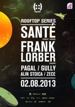 Santé şi Frank Lorber în Sun Sensation Beach Club din Bucureşti