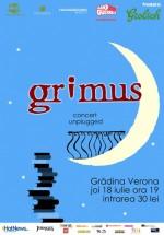 Concert unplugged Grimus la Grădina Verona-Cărtureşti din Bucureşti