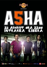 Concert ASHA în Hard Rock Cafe din Bucureşti