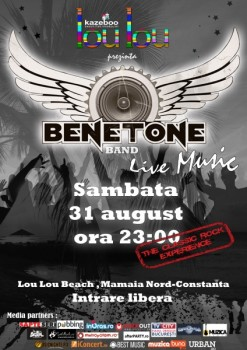 Concert Benetone Band la Lou Lou Beach din Mamaia