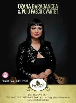 Concert Ozana Barabancea şi Puiu Pascu Cvartet în Godot Cafe-Teatru din Bucureşti