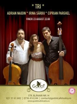 Concert TRI – Irina Sârbu, Adrian Naidin şi Ciprian Parghel în Godot Cafe-Teatru din Bucureşti