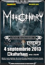 Concert Mercenary şi Omnium Gatherum la Kulturhaus în Bucureşti
