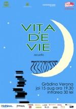 Concert unplugged Viţa de Vie la Grădina Verona-Cărtureşti din Bucureşti