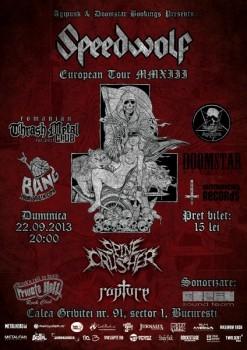 Concert Speedwolf în Private Hell Club din Bucureşti