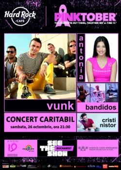 Concerte VUNK, Antonia, Bandidos şi Cristi Nistor în Hard Rock Cafe din Bucureşti