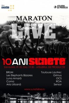 """Maraton LIVE """"10 ani de Sunete"""" în Atelierul de Producţie din Bucureşti"""