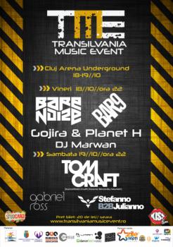 Transilvania Music Event 2013 în parcarea subterană Cluj Arena