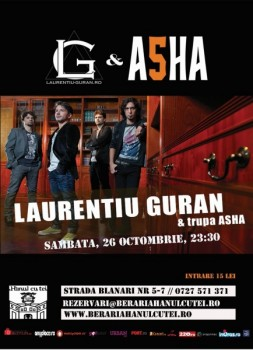 Concert ASHA la Berăria Hanul cu Tei din Bucureşti