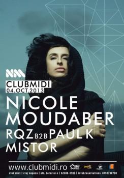 Nicole Moudaber în Club Midi din Cluj-Napoca