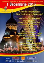 1 decembrie 2013 – Ziua Naţională a României la Cluj-Napoca