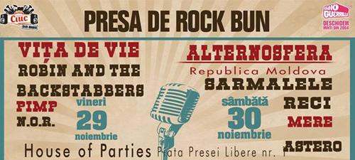 CONCURS: Câştigă abonamente la Festivalul Presa de Rock Bun 2013