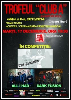 Concerte Dark Fusion, All I Had şi The CitiSense în Club A din Bucureşti