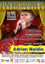 """Concert Cristian Pomohaci – """"Am venit să vă colind"""" la Teatrul Elisabeta din Bucureşti"""