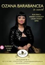 Concert Ozana Barabancea în Godot Cafe-Teatru din Bucureşti
