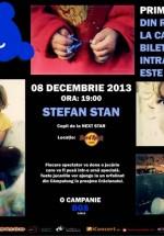 Concert caritabil cu Ştefan Stan în Hard Rock Cafe din Bucureşti