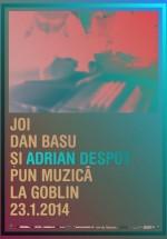 Dan Basu şi Adrian Despot în Club Goblin din Bucureşti