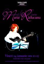 Concert Maria Răducanu la Teatrul de Artă din Bucureşti