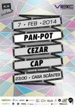 Pan-Pot, Cezar şi Cap la Casa Presei Libere din Bucureşti
