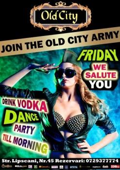 Army Party în Old City din Bucureşti