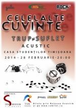 """Concert Celelalte Cuvinte – """"Trup şi suflet"""" la Casa de Cultură a Studenţilor Timişoara"""