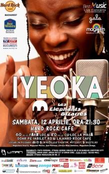 Concert Iyeoka în Hard Rock Cafe din Bucureşti (CONCURS)