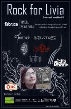 Concert caritabil Rock for Livia în Club Fabrica din Bucureşti