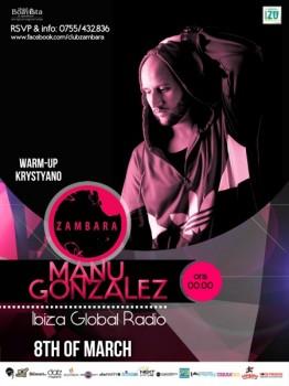 Manu Gonzales în Club Zambara din Timişoara