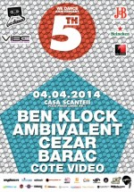 We Dance Anniversary: Ben Klock & Ambivalent la Casa Presei din Bucureşti