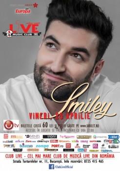 Concert Smiley în Club Live din Bucureşti