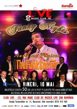 Concert Aurelian Temişan & The Funky Society în Club Live din Bucureşti