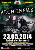 Concert Arch Enemy la Turbohalle din Bucureşti