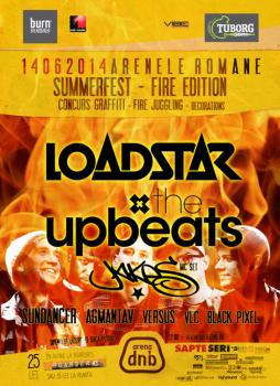 arena dnb Summerfest 2014 (Loadstar, The Upbeats & Jakes) la Arenele Romane din Bucureşti