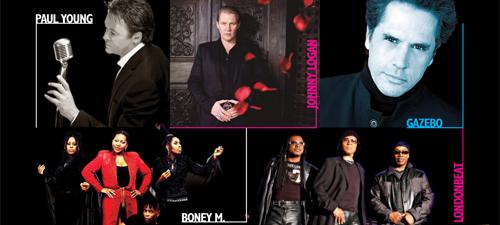 Londonbeat, Boney M., Paul Young, Gazebo şi Johnny Logan în concert la Bucureşti, în noiembrie 2014