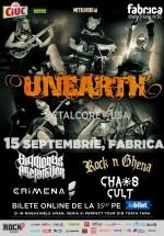 Concert Unearth la Club Fabrica din Bucureşti