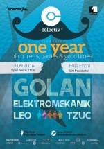 Concert GOLAN – aniversare 1 an de Club Colectiv Bucureşti