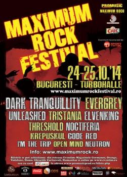 Maximum Rock Festival 2014 la Bucureşti