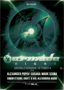 Armada Night: Alexander Popov, Susana, Mark Sixma, Simon O'Shine la Arenele Romane din Bucureşti
