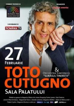 Concert Toto Cutugno la Sala Palatului din Bucureşti (CONCURS)