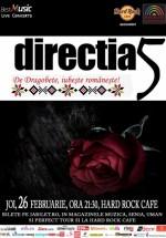 Concert direcţia 5 de Dragobete la Hard Rock Cafe din Bucureşti