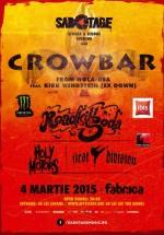 Concert Crowbar la Sabotage Stoner & Sludge Evening, în Fabrica din Bucureşti